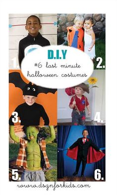 DSGN for kids: last minute halloween costumes Magician Costume, Arrow Costume, Hulk Costume, Best Diy Halloween Costumes, Family Guy, Baseball Cards, Kids, Fictional Characters, Young Children