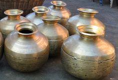 Antique Brass Cooking Utensils Called Charoti or Baltoi (Batloi) in Hamirpur, Himachal Pradesh