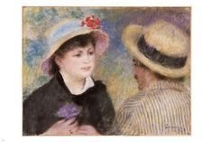 PIERRE-AUGUSTE RENOIR boating couple PAINTING POSTER 24X36 impressionist