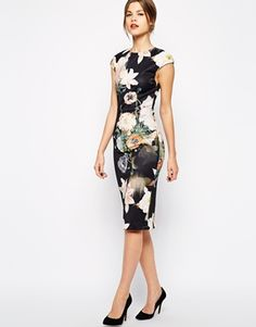 Ted Baker Midi Dress in Opulent Bloom Print.. THIS DRESS WAS BASICALLY MADE FOR ME.!!!!!!!!!!!!!!!!!!!!!!!!!!!!!!!!!!!!!!!!!!!!!!!!!!!!!!