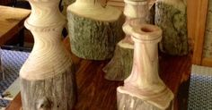 Lathe Turned branches for candle and flower holders. Or just as natural decor. for http://ift.tt/2gUqHTb