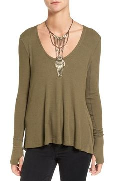 Ivory XS Low Free People 'Malibu' Thermal Top available at #Nordstrom