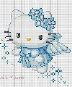HELLO KITTY VARIOS | Cross stitch fairy, Stitches and Girls