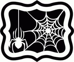 Silhouette Design Store - View Design #66053: spider + web artisan label