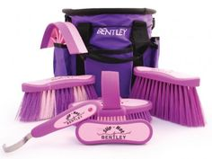 Gorgeous purple horse grooming kit