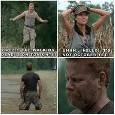 Abraham Ford and Rosita Espinosa - twd trailer, season 5 premiere on October | The Walking Dead funny meme