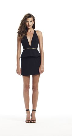 bec & bridge | christie peplum mini dress