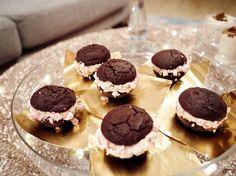 Peppermint Patty Sandwich Cookies recipe from Giada De Laurentiis via Food Network