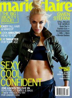 Gwen Stefani en la portada de Marie Claire (Fotos+Video)