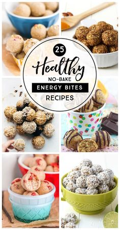 25 Healthy No-Bake Energy Bites Recipes - simple as that