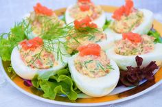 Stuffed salmon eggs