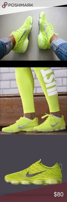 Women's Nike Zoom Fit Agility- Neon Yellow Women's Nike Fit Agility Shoes in Neon Yellow! Size 8 - used but in good condition (reflected in the price). So not have original box FYI Nike Shoes Athletic Shoes