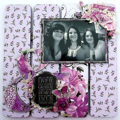 kaisercraft violet crush Scrapbook Layouts, Scrapbooking, Wedding Scrapbook, Altered Art, Otp, Crushes, Give It To Me, Craft Ideas, Frame