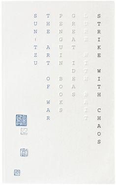 Sun Tzu's The Art of War. design by David Pearson.  http://bookcoverarchive.com/book/the_art_of_war