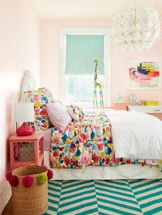 Izzys room blush walls, toddler rooms, kids rooms, girls bedroom, little gi Teen Girl Bedrooms, Little Girl Rooms, Teen Bedroom, Bedroom Decor, Bedroom Ideas, Childrens Bedroom, Arty Bedroom, Bedroom Designs, Nursery Ideas