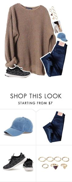 """cool origin story bro."" by maybe-there-is ❤ liked on Polyvore featuring American Needle, Levi's and Forever 21"