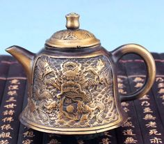 Schicken Mehr Metall Handwerk Information über Exquisite Chinesische Alte stil Kupfer Neun Drachen Teekanne, High Quality dragon themed birthday party, teapot kettle China Lieferanten, Günstige teapot blowing von Classic beauty2015 auf Aliexpress.com