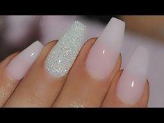Pink and blue pastel ombre - NeoNail - Jak zrobić poziome ombre gąbeczką na hybrydach - YouTube