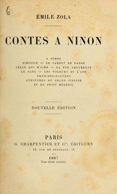 Émile Zola, Contes à