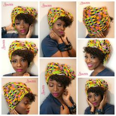 Kente Zandana Afrikaanse hoofd wrap Afrikaanse door BoutiqueMix