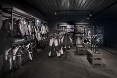 J B House Limited - Retail display needs & objects of desire Acoustic solutions Workspace solutions Modern & classic lifestyle collectables Motocross Store, Motorcycle Store, Helmet Shop, Clothing Store Interior, Garage Design, Modern Classic, Visual Merchandising, Store Design, Retail