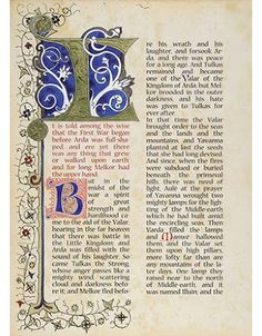 Amazing illuminated manuscript of THE SILMARILLION, by Benjamin Harff. I'd drop some serious coin for a commercial version.