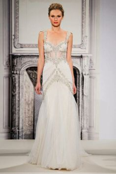 Gorgeous glitter gown from Kleinfeld Bridal, wedding dress