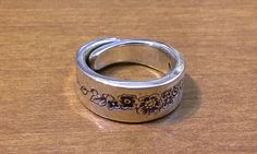Silver Plated Spoon Ring, Size 9