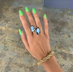 Not only is the fashion set clued in to the best outfits, but they also know a thing or two about pretty nail polish. Here are 16 nail colors they love. Bright Summer Acrylic Nails, Best Acrylic Nails, Summer Nails, Colorful Nails, Spring Nails, Funky Nails, Cute Nails, Hair And Nails, My Nails