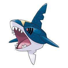 Sharpedo puede alcanzar nadando los 120 km/h agitando la aleta trasera y propulsándose por el agua. El punto flaco de este Pokémon es la imposibilidad que tiene de nadar largas distancias.
