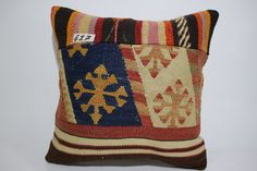 Thank you for visiting my shop.I am happy to share my handmade kilim pillows with you.I will be happier if you have some of them and love them...  KILIM PILLOW DETAILS:  * I make my kilim pillows from vintage Turkish Anatolian Kilims.I use fine quality, unique,vegetable dyes vintage handwoven kilims to make them. * It is made from differents vintage kilim parts. * Size is 16 x 16 or 40cm x 40cm * Front side is wool on wool kilim rug. * Back side is first quality cotton fabric with a high…