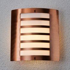 Miedziana lampa ścienna Clement na zewnątrz 9630036