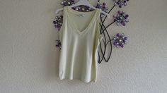 Cream  Cotton  Summer Top By  Papaya - size 12  #Papaya #VestTopStrappyCami #Casual