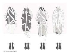 Fashion Sketchbook - fashion illustrations; line up; fashion design portfolio // Louise Whittington
