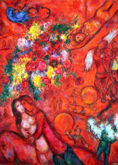 Marc Chagall [French, born Russia (present-day Belarus), The Red Circus (Le cirque rouge), c. Oil on canvas, 130 x 97 cm. Photo : © Archives Marc et Ida Chagall. Marc Chagall, Artist Chagall, Chagall Paintings, Painting Quotes, Jewish Art, Mark Rothko, French Artists, Pablo Picasso, Oeuvre D'art