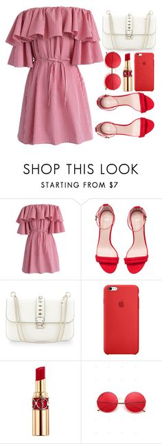 """""""Sem título #1178"""" by andreiasilva07 ❤ liked on Polyvore featuring Chicwish, H&M, Valentino and Yves Saint Laurent"""