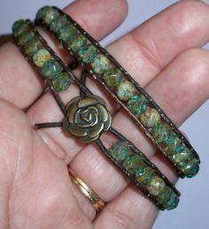 Triple Row Leather Bracelet | JewelryLessons.com