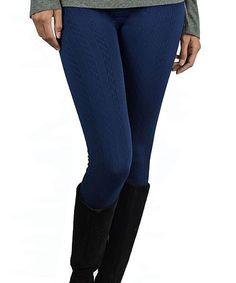 Another great find on #zulily! OhConcept Collection Navy Cable-Knit Fleece-Lined Leggings Set by OhConcept Collection #zulilyfinds