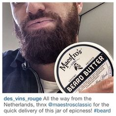 @des_vins_rouge Welcome Maestro of The Netherlands! Thanks for choosing Maestro's Classic for crafting a better you in beard care and thanks for being undeniably good at spreading the news about our Beard wash and Beard butter in the Netherlands. We appreciate you. Maestro Salute