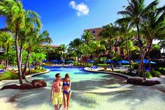 One of two pools at the Radisson Aruba Resort, Casino & Spa