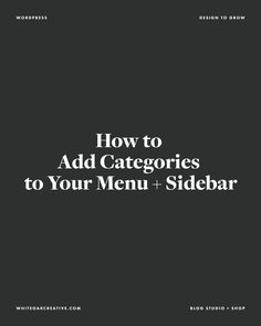 This week, we've coveredthe importance of organized categories, how to manage your categories in the WordPress dashboard, and how to quick edit and bulk select categories.Now that you have all your posts categorized correctly, you...