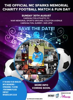 Venue Now confirmed  Carshalton Athletic F.C. Sunday 30th August 2015 Please get in touch if you wish to be involved  info@CelebFC.co.uk Follow in Twitter @Celeb_FC  Use Hashtag #SparksFooty on all Social media to keep up with news.