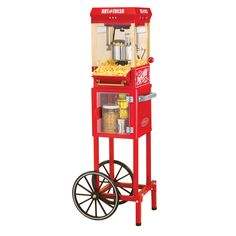 Nostalgia KPM200CART 45 in. Tall Vintage Collection 2.5-Ounce Kettle Popcorn Cart - 082677713162