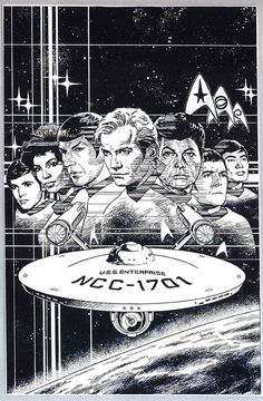 Star Trek 1, Star Trek Series, Star Trek Original Series, Nave Enterprise, Caricatures, Science Fiction, Star Trek Posters, Star Trek Images, Movies And Series