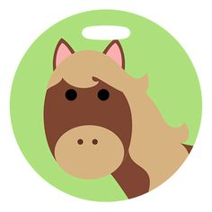 Luggage Tag  Horse  2.5 inch or 4 Inch Round Large by ebonypaws #horse #luggage #tag