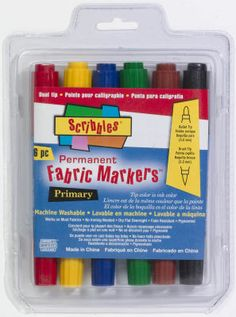 Scribbles® Permanent Fabric Markers™