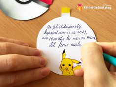 Einladungstext für Pokemon Geburtstagseinladung Printables, Pokemon Birthday Card, Pokemon Craft, Invitation Text, Birthday Party Invitations, Templates, Print Templates