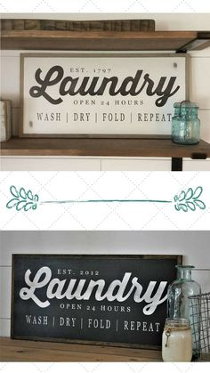 A farmhouse style Laundry sign is just what I need in my laundry room. #farmhouse #ad #farmhousestyle #rustic