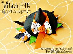 Witch Hat Ribbon Sculpture Tutorial