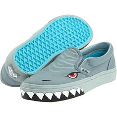f6a0b46c69f Vans kids classic slip on toddler youth shark slip lead grey mist